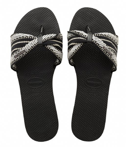 Havaianas Slippers Flipflops You Saint Tropez Fita black (0090)