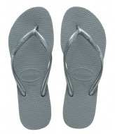 Havaianas Flipflops Slim silver colored blue (7606)