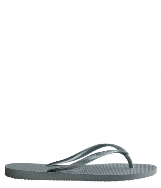 Havaianas Slippers Flipflops Slim silver colored blue (7606)