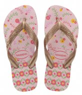 Havaianas Kids Flipflops Flores Crystal rose rose gold colored metallic (7667)