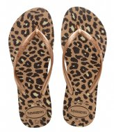 Havaianas Slim Flatform Animals Rose Gold (3581)