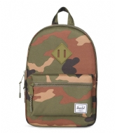 Herschel Supply Co. Heritage Kids woodland camo/army rubber (01609)