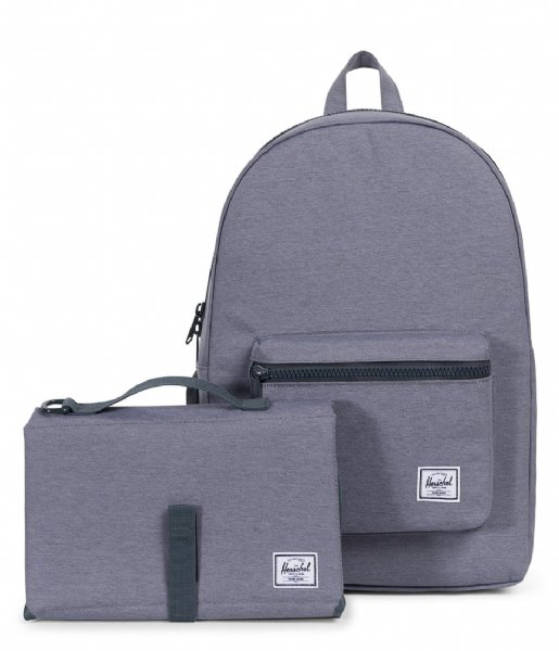 Herschel Supply Co. Luiertas Settlement Sprout mid grey crosshatch (02137)