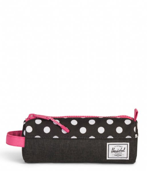 Herschel Supply Co. Etui Settlement Case black crosshatch polka dot (02205)