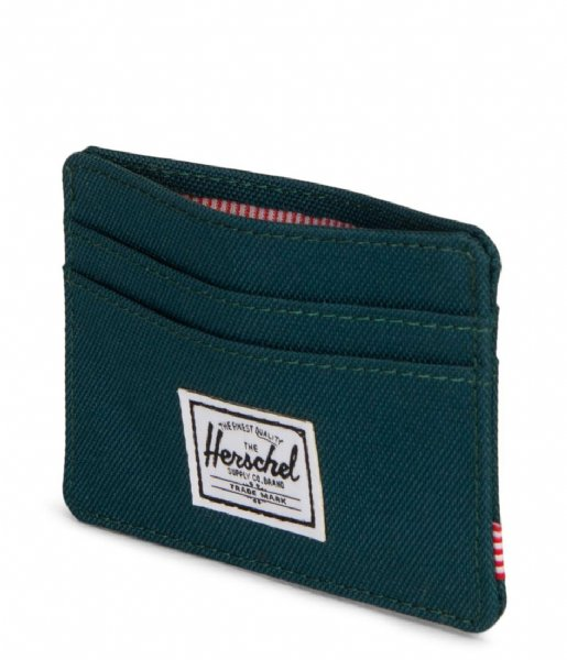 Herschel Supply Co. Muntgeld portemonnee Charlie deep teal (02108)