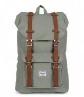 Herschel Supply Co. Little America Mid Volume shadow/tan synthetic leather (02319)