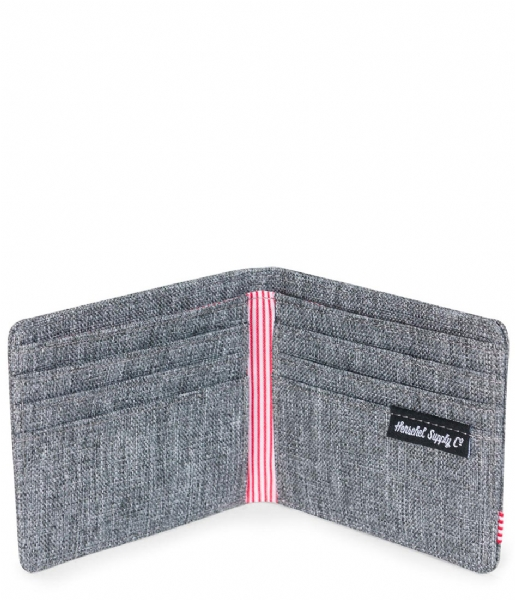 Herschel Supply Co. Bi-fold portemonnee Roy Wallet raven crosshatch (00919)