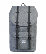 Herschel Supply Co. Little America 15 Inch raven crosshatch/black rubber (01132)
