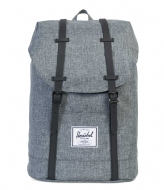 Herschel Supply Co. Retreat 15 Inch raven crosshatch/black rubber (01132)