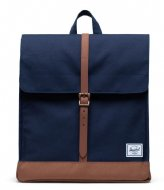 Herschel Supply Co. City Mid Volume peacoat saddle brown (03266)