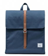 Herschel Supply Co. City Mid Volume navy tan (00007)