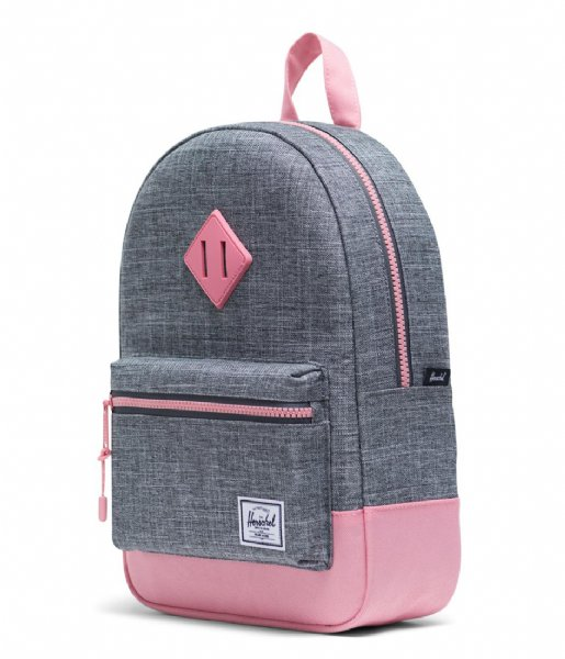Herschel Supply Co. Dagrugzak Heritage Kids raven crosshatch flamingo pink (03269)