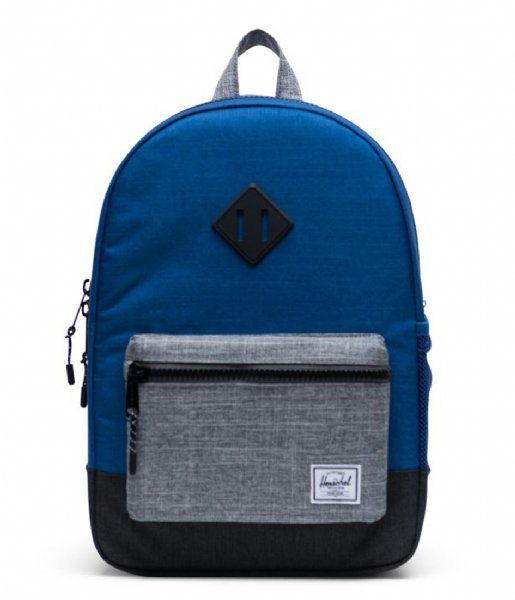 Herschel Supply Co. Dagrugzak Heritage Youth monaco blu black raven crosshatch (03263)