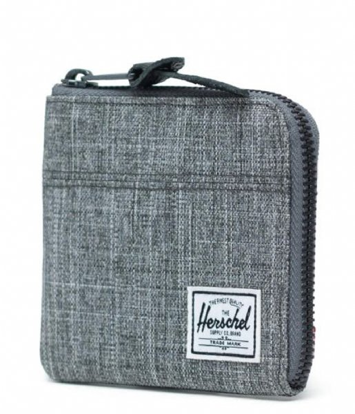 Herschel Supply Co. Muntgeld portemonnee Johnny Wallet raven crosshatch (00919)