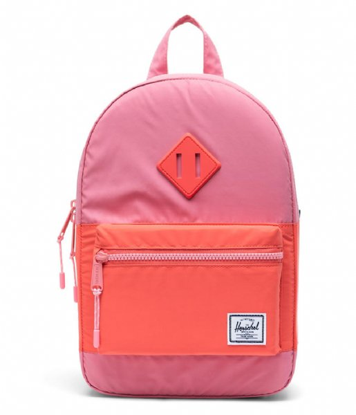 Herschel Supply Co. Dagrugzak Heritage Kids flamingo pink hot coral reflective (03081)