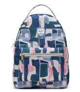 Herschel Supply Co. Nova Mid Volume 13 Inch abstract block (02995)