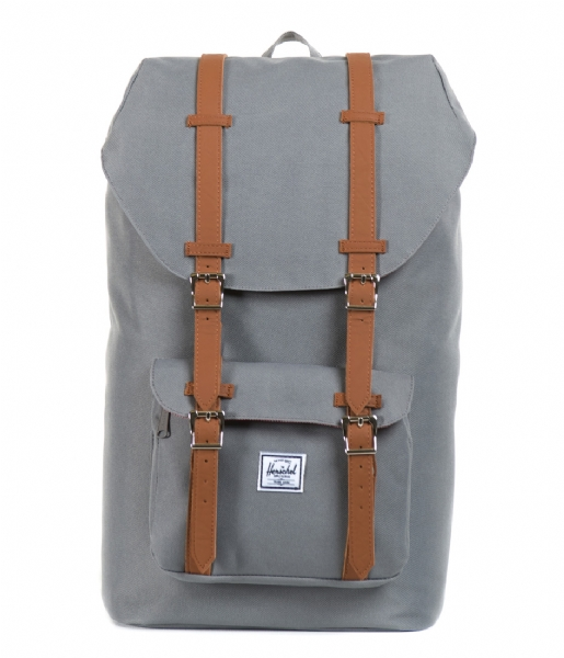 Herschel Supply Co. School rugzak Little America Mid Volume 13 Inch grey & tan PU
