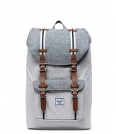 Herschel Supply Co. Little America Mid Volume Raven Crosshatch/Vapor Crosshatch/Tan (03890)