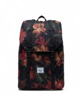Herschel Supply Co. Retreat Mid Volume 13 inch Tropical Hibiscus (03897)