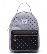 Herschel Supply Co. Nova Mini Polka Dot Crosshatch Grey/Black (03556)