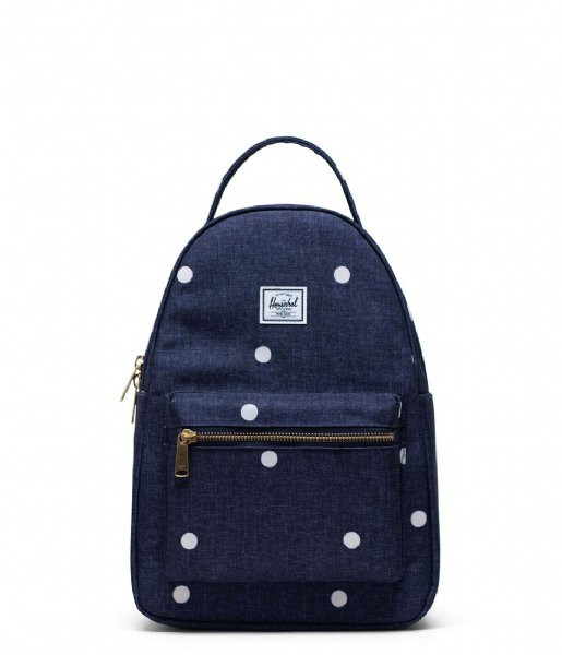Herschel Supply Co. Dagrugzak Nova Small Polka Dot Crosshatch Peacoat (03886)