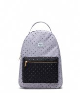 Herschel Supply Co. Nova Mid Volume 13 Inch Polka Dot Crosshatch Grey/Black (03556)