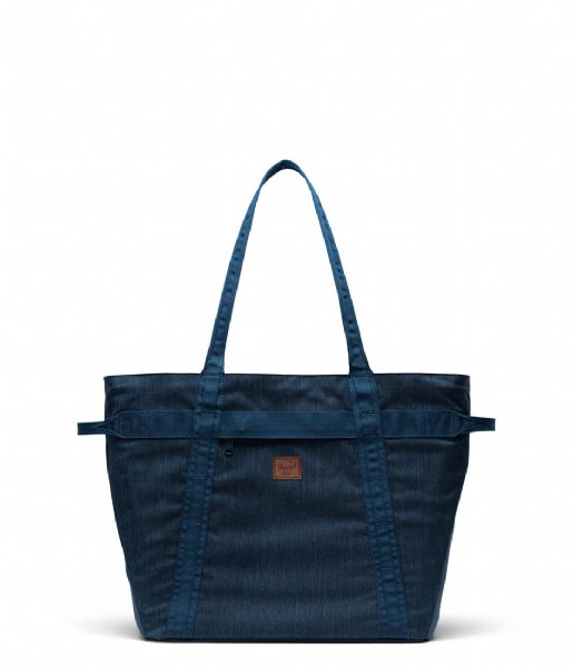 Herschel Supply Co. Schoudertas Alexander Zip Tote Indigo Denim Crosshatch (03537)