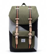 Herschel Supply Co. Little America Select Black/Ivy Green/Light Grey Crosshatch (04064)