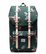 Herschel Supply Co. Little America Birds Of Herschel 15 Inch Dark Green Birds (04073)