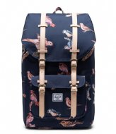 Herschel Supply Co. Little America Birds Of Herschel 15 Inch peacoat birds (04090)