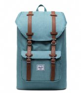 Herschel Supply Co. Little America Mid Volume 13 Inch Oil Blue Crosshatch (04088)