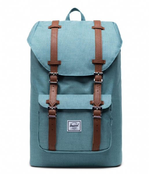 Herschel Supply Co. Dagrugzak Little America Mid Volume 13 Inch Oil Blue Crosshatch (04088)