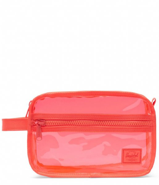 Herschel Supply Co. Etui Chapter Clear Bags Hot coral (04138)