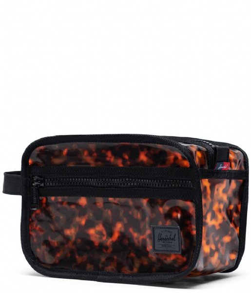 Herschel Supply Co. Etui Chapter Clear Bags Tortoise Shell (04139)