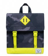 Herschel Supply Co. Survey Kids Night Camo Lime Punch (04087)