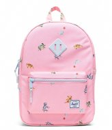 Herschel Supply Co. Heritage Youth Candy Pink Circus Animals (04069)