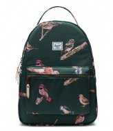 Herschel Supply Co. Nova Mid Volume Birds of Herschel 13 Inch Dark Green Birds (04073)