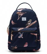 Herschel Supply Co. Nova Mid Volume Birds of Herschel 13 Inch peacoat birds (04090)