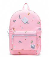 Herschel Supply Co. Heritage Youth XL Candy Pink Circus Animals (04069)