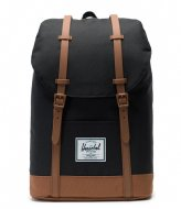 Herschel Supply Co. Retreat black/saddle brown (02462)