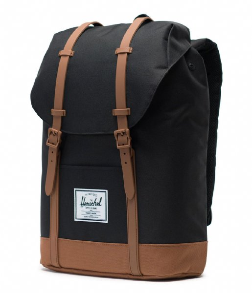 Herschel Supply Co. Laptop rugzak Retreat 15 Inch black/saddle brown (02462)