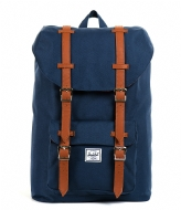 Herschel Supply Co. Little America Mid Volume 13 Inch navy & tan PU