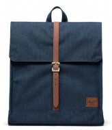 Herschel Supply Co. City Mid Volume indigo denim crosshatch (03537)