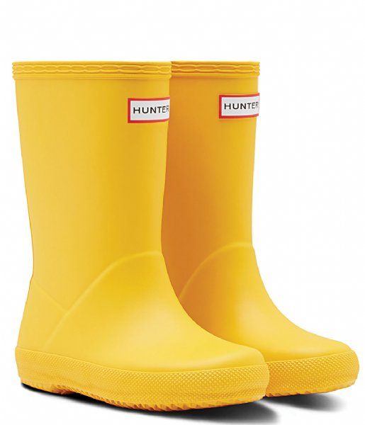 Hunter Boots Kids First Classic Regenlaarzen Geel