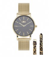 IKKI Watch Jamy Gold Plated Gift Set gold plated black (jm05)