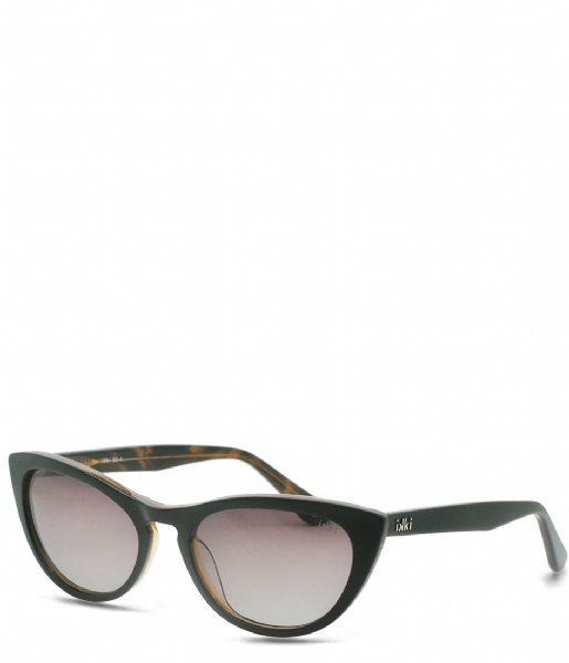 IKKI Zonnebril Sunglasses Lilly black gold colored gradient brown (50-4)