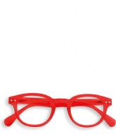 Izipizi #C Reading Glasses red crystal soft