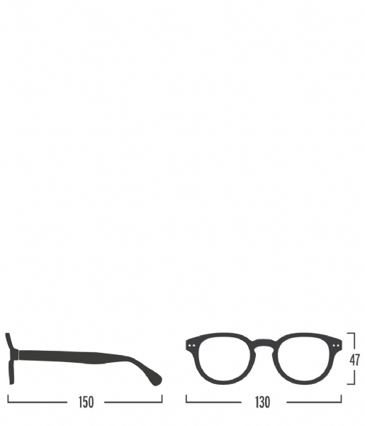 Izipizi Leesbril #C Reading Glasses light tortoise