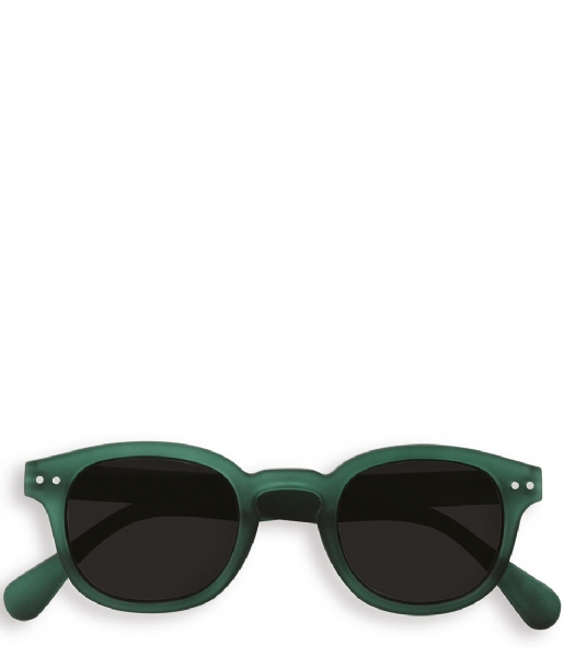 Izipizi Zonnebril op sterkte #C Reading Sunglasses green crystal soft grey