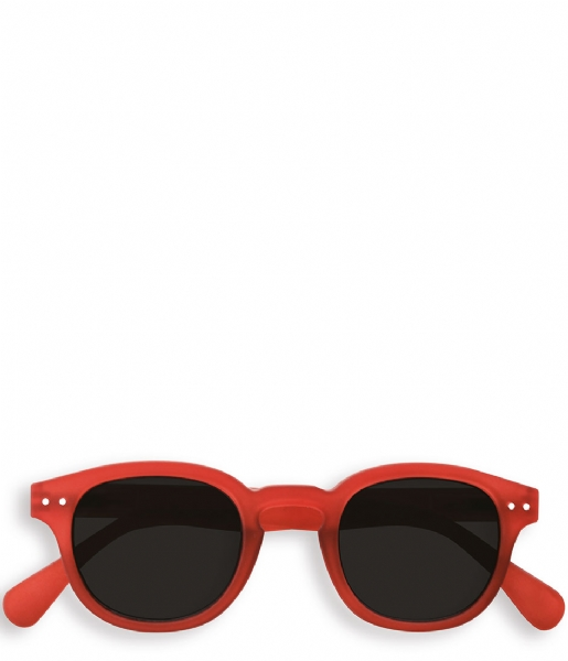 Izipizi Zonnebril op sterkte #C Reading Sunglasses red crystal soft